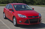 Red Ford Hatchback