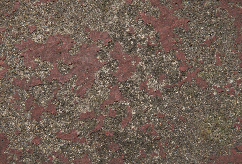 Red Painted Concrete