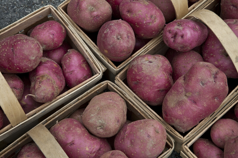 Red Potatoes in Baskets