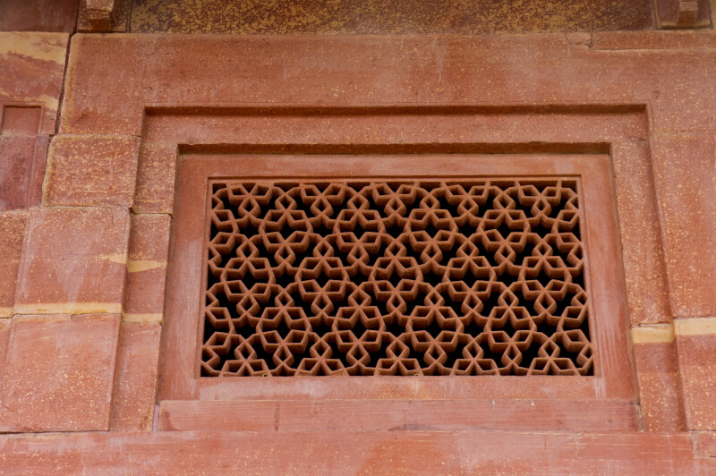 Red Sandstone Latticed Window
