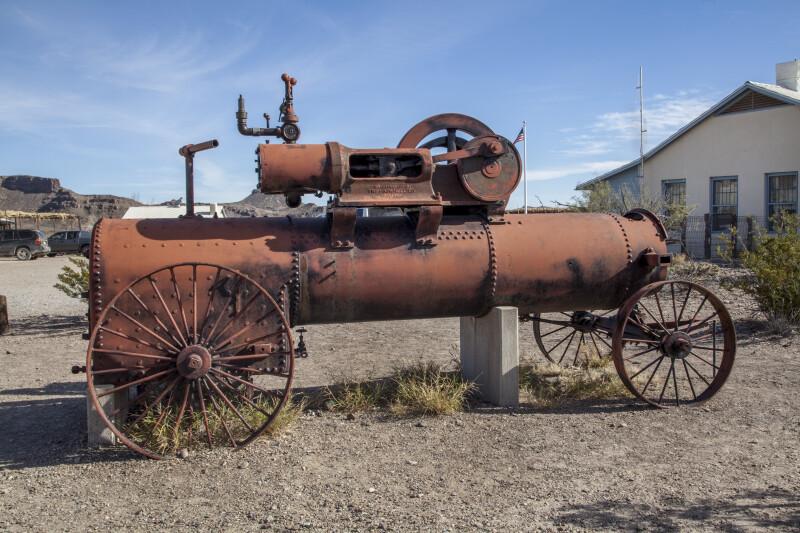 Red Steam Engine at Castolon