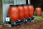 Red Water Barrels
