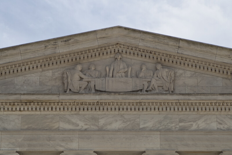 Relief at Jefferson Memorial