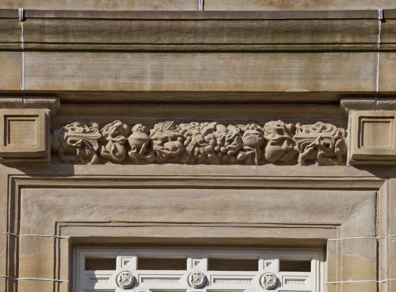 Relief at Soliders and Sailors' Memorial Hall