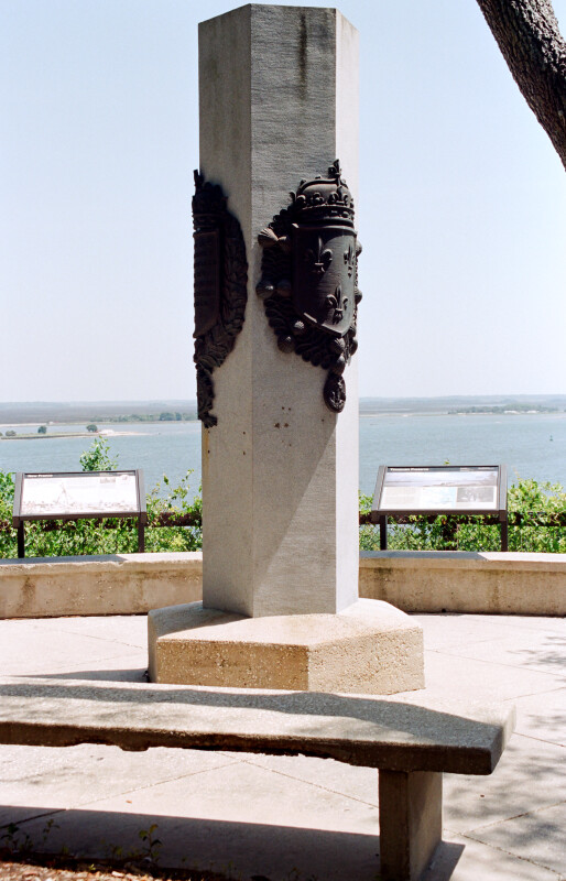 Replica of Ribault Monument and St. Johns River