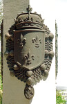 Ribault Monument Close-Up Displaying Fleur-de-Lis Symbol