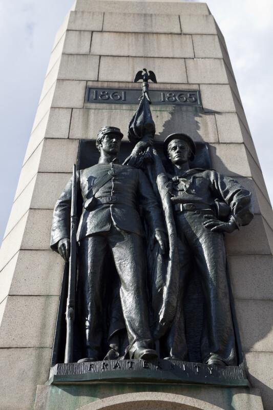 Rifleman and Flag Bearer