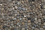 River Pebble Wall in Kuşadası, Turkey