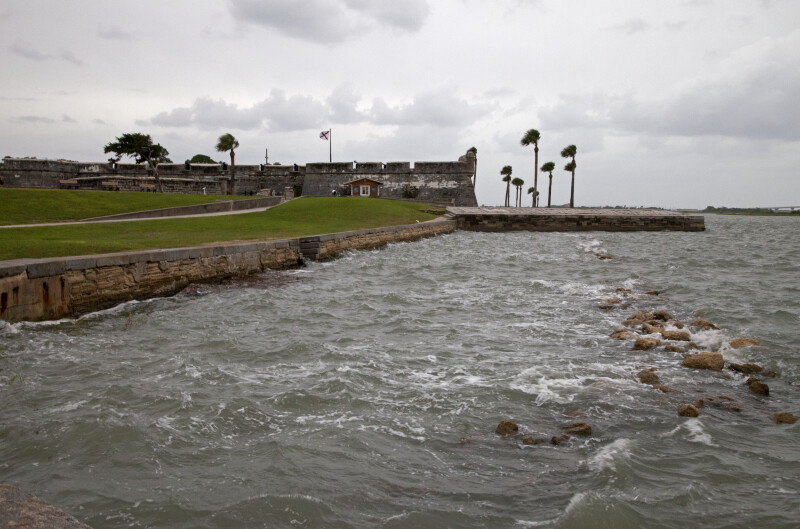 Rocks Used to Protect the Seawall of Castillo de San Marcos