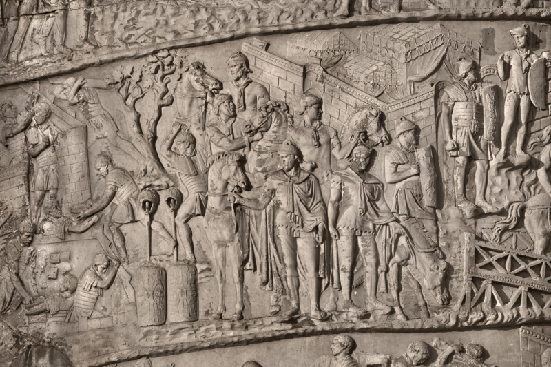 Roman Soldiers Holding Their Horses