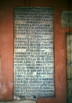 Rome, San Silvestro in Capite, inscription, c.760, list of relics and calendar of feasts