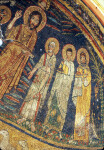 Rome, Santa Cecilia in Trastevere, apse mosaic, Christ in glory, St. Peter and two saints