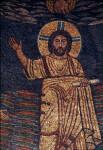 Rome, Santa Prassede, apse mosaic, Christ in glory
