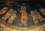 Rome, Santa Prassede, apse mosaic, overview, Christ and saints