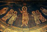 Rome, Santa Prassede, apse mosaic, overview, Christ and saints