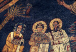 Rome, Santa Prassede, apse mosaic, Pope Paschal I, St. Paul and St. Praxedis or Pudentiana