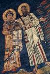 Rome, Santa Prassede, apse mosaic, St. Paul presenting St. Praxedis or Pudentiana to Christ