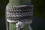 Rope Tied Around a Post