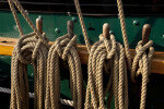 Ropes Tied to Wooden Pegs