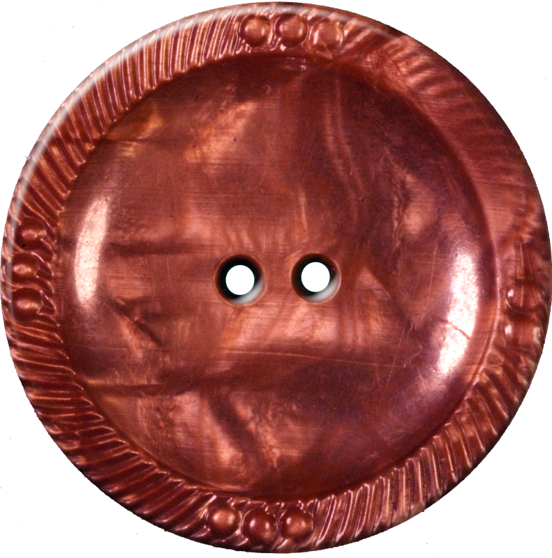 Rosette Button with Six Circles, Brown