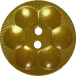 Rosette Button with Six Circles, Mustard