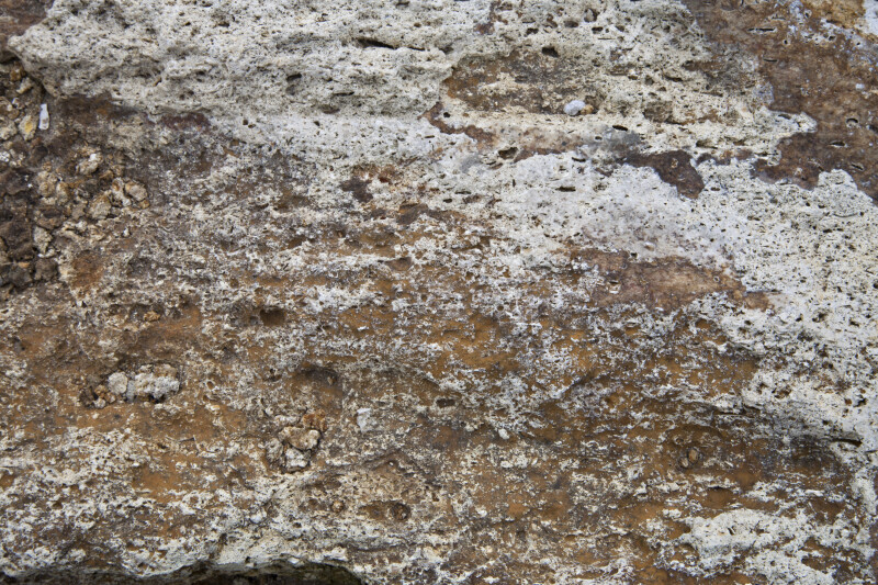 Rough Texture of a Porous Rock