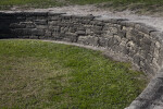 Rounded Coquina Wall at Castillo de San Marcos