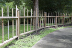 Rounded Wooden Fence with Uneven Posts at the Kanapaha Botanical Gardens