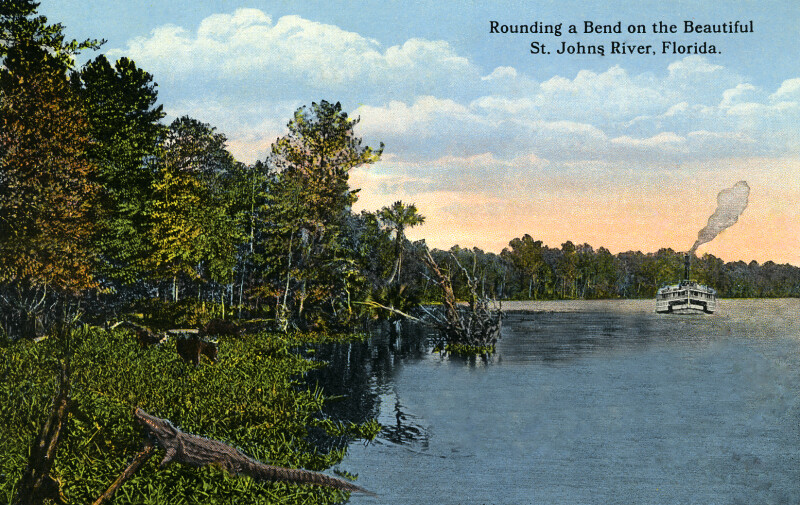 Rounding a Bend on the Beautiful St. Johns River