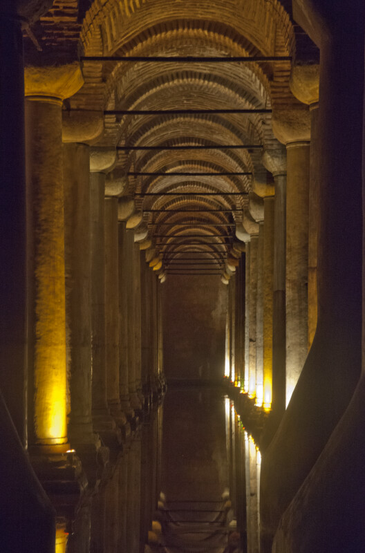 Row of Columns at the Basilica Cistern