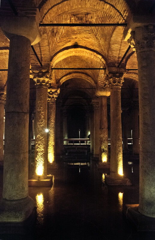 Rows of Columns at the Basilica Cistern
