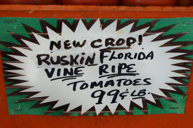 Ruskin Florida Vine Ripe Tomatoes