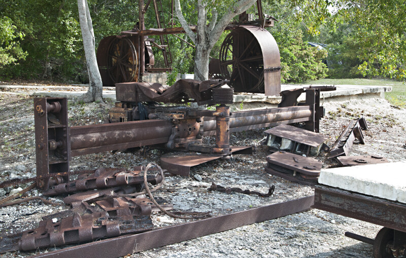 Rusted Machinery at Windley Key Fossil Reef Geological State Park