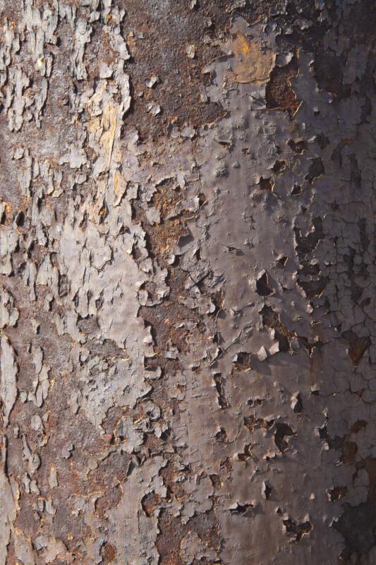 Rusted Metal Light Pole