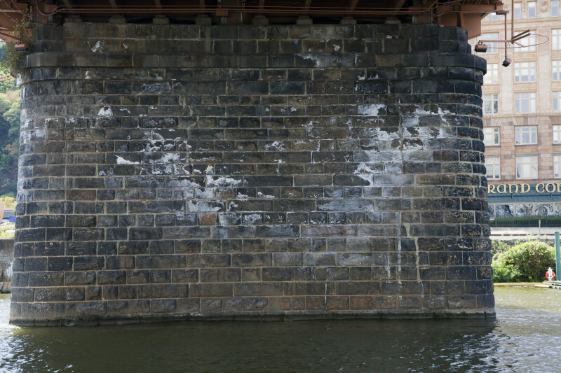 Rusticated Stone Pier of the Smithfield Street Bridge