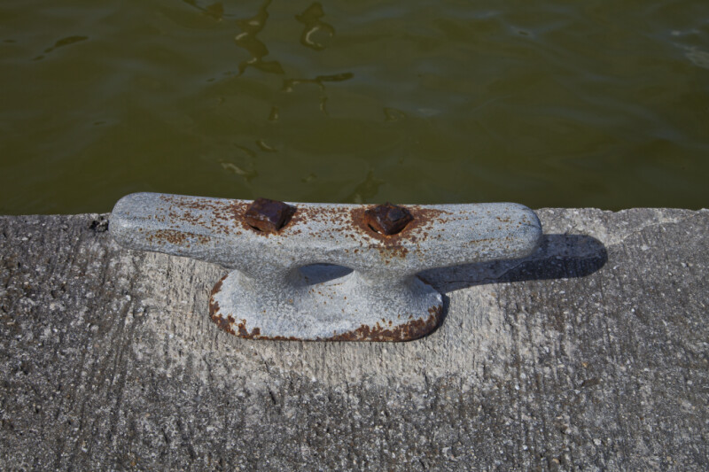 Rusty Dock Cleat