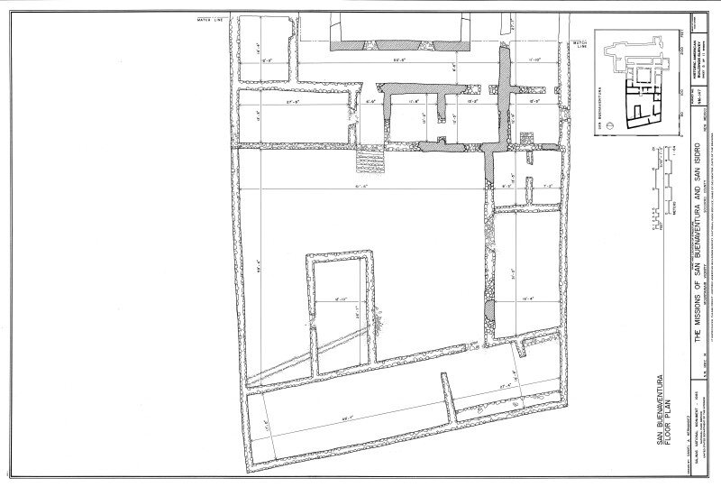 San Buenaventura Floor Plan Enlargement, Southern Section