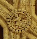 Sandoval, Santa María, north transept, vault boss