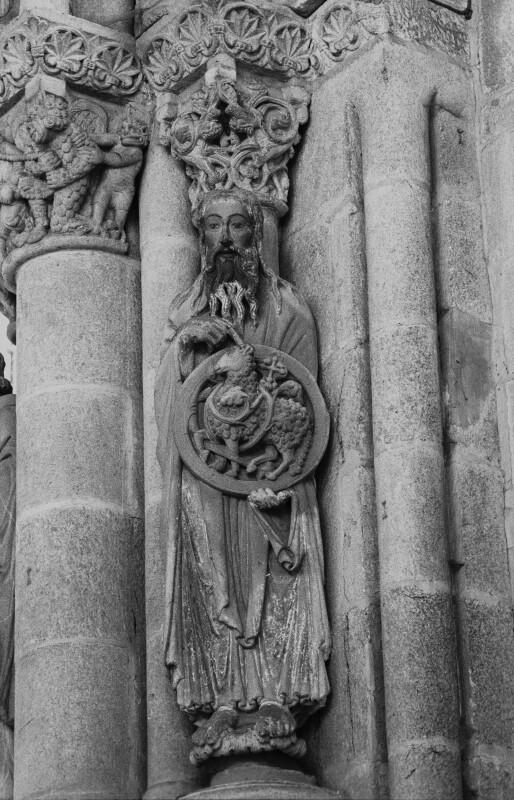 Santiago cathedral, Pórtico da Gloria, St. John the Baptist
