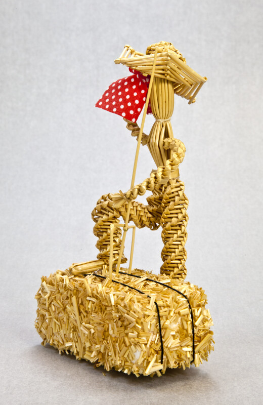 Saskatchewan, Canada - Man Made from Wheat (Side View)