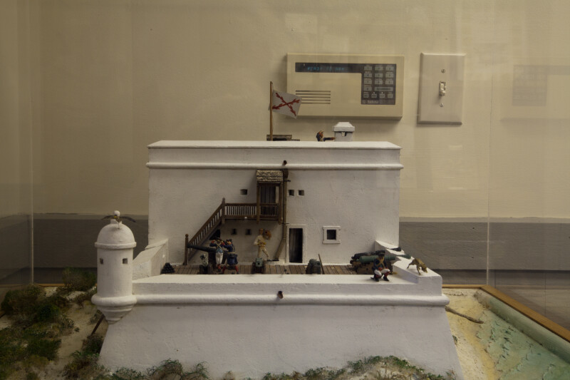 Scale Model of Fort Matanzas