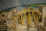 Scale Model of Fort Matanzas Under Construction, Close-up
