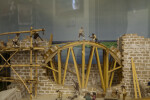 Scale Model of Fort Matanzas Under Construction