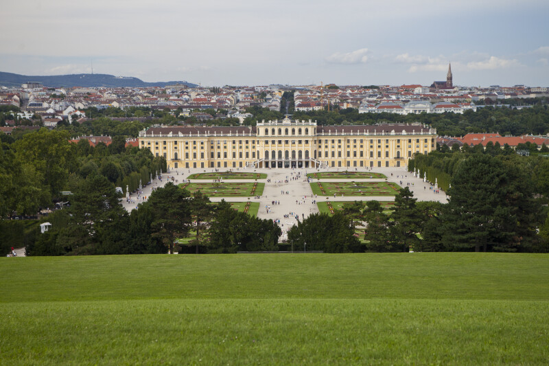 Schönbrunn Palace from Hill