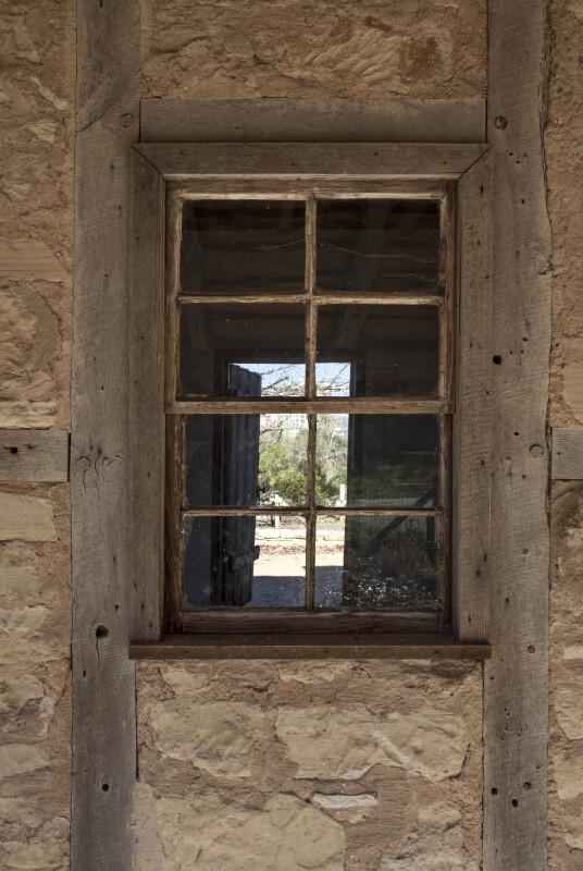 Schumacher House Window with Wooden Frame