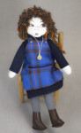 Scotland Hand Made Girl Made from Cloth and Wearing a Tartan (Full View)
