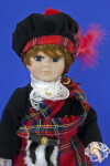 Scotland Scottish Lad with Tam o' Shanter or Balmoral on His Head (Close Up)