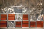 Sculpture Installation Over Escalators at Pittsburgh International Airport