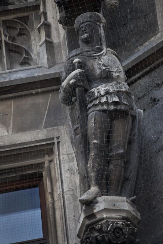 Sculpture of a Duke Holding a Sword