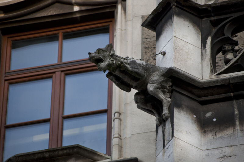 Sculpture of a Fox at New Town Hall